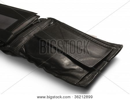 Black Leather Moneybag Detail