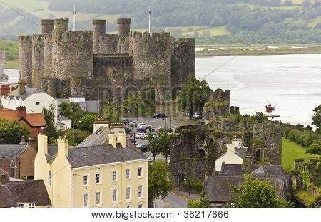 A Conwy, River Conwy And Conwy Castle Shot