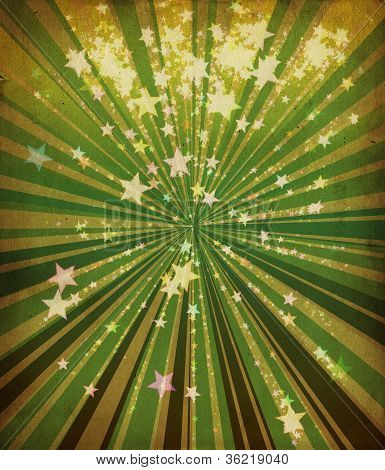 Grunge Stars And Green Lines