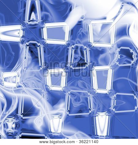 Blue and White Glass