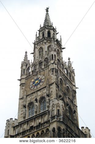 Gothic Chapel Tower With Clock