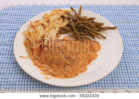 Bavarian Schnitzel Dinner