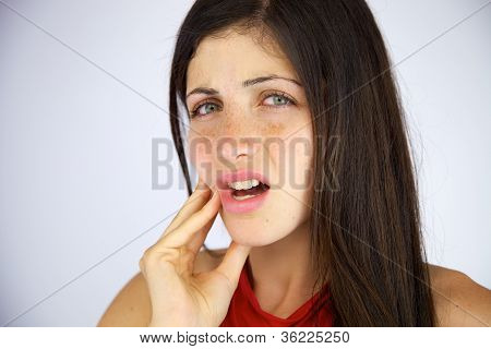 Beautiful Girl With Strong Toothache