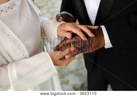 Racialy Mixed Senior Marriage