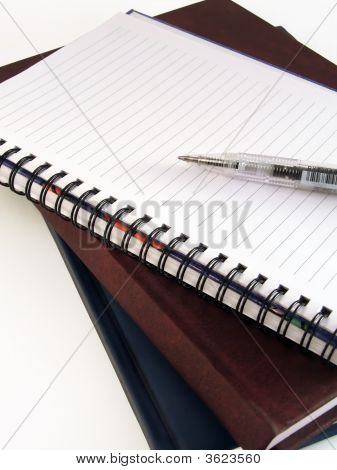 Pen On The Empty Notebook