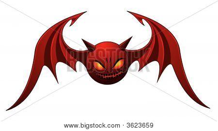 Red Evil Bat
