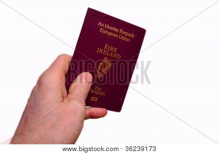 Irish passport in hand