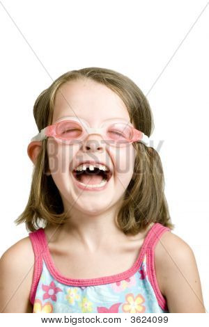 Gap Tooth Girl With Goggles