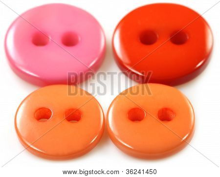 Colorful buttons over white background