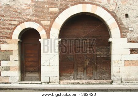 Old Doors In Venice