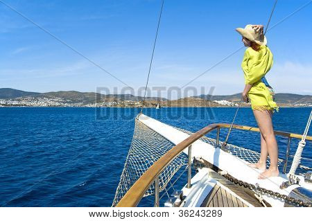 Woman On Bowsprit