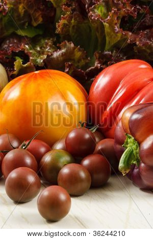 Fresh Tomatoes And Lettuce