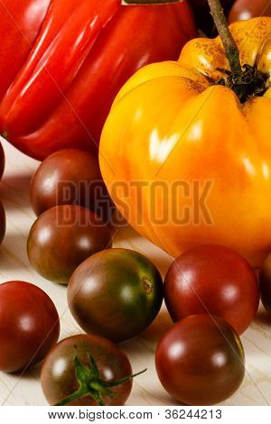 Colorful Fresh Heirloom Tomatoes
