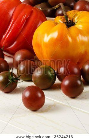 Fresh Ripe Heirloom Tomatoes
