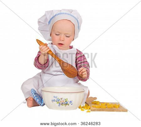 Young Chef Baking