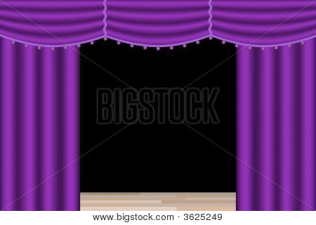 Stage Curtains Purple