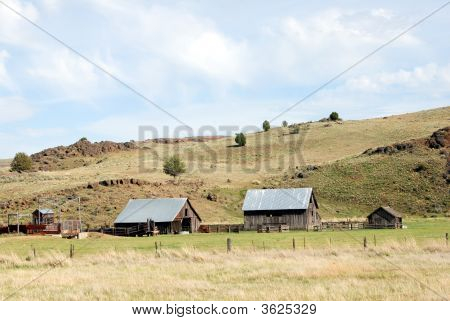 Outbuildings On An Oregon Ranch