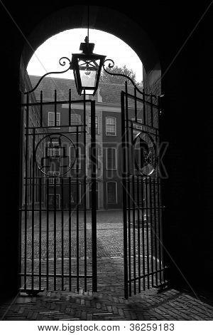 Old gate opening in Leiden