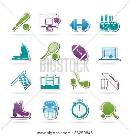 Sport objects icons