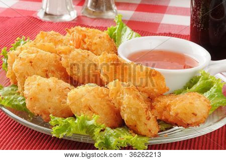 Coconut Shrimp Closeup