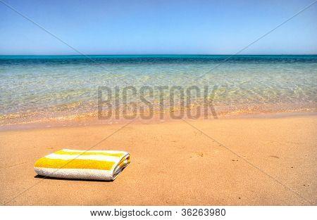 Beautiful Towel Next To The Sea.