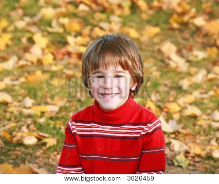 Little Boy In The Fall