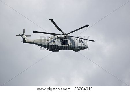 Royal Navy Merlin Helicopter, Portland