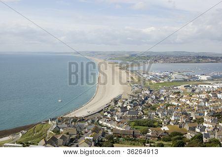 Chesil Beach from Portland, Dorset