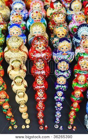 Sets Of Traditional Russian Nesting Painted Doll Matryoshka