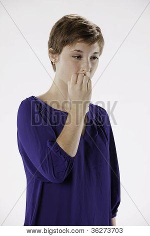 Teenage Girl Thoughtful