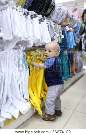 Baby Boy Chooses Clothes
