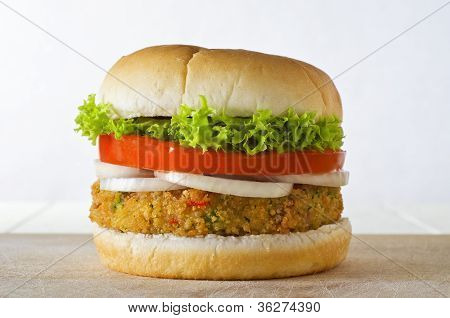 Veggie Burger In Bap