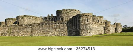 A Beaumaris Castle Lawn On Anglesey, Wales