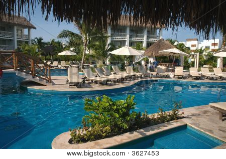 Pool At Resort In Cozumel