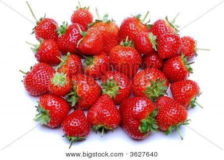 Strawberrys On White