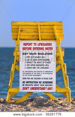Lifeguard Tower At A Beach