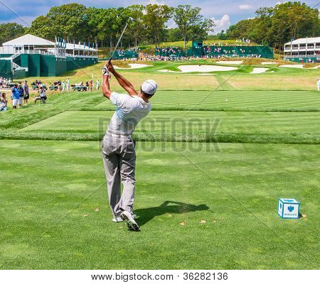Tiger Woods At The 2012 Barclays
