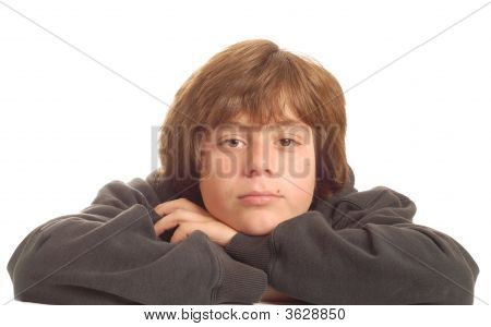 Bored Teen With Arms Crossed