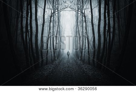 Man In A Dark Fantasy Forest