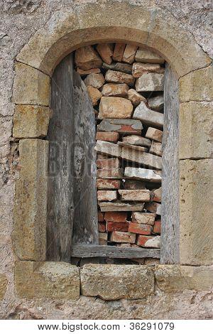 Barricaded Window Frame