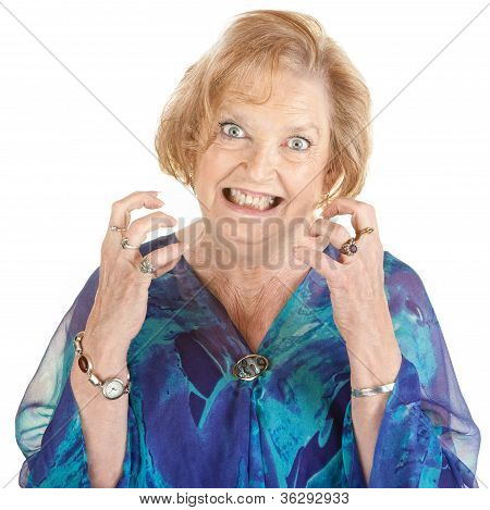 Anxious Senior Woman