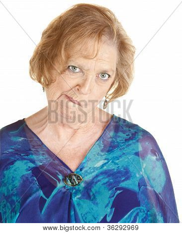 Senior Woman Makes Strange Faces