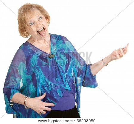 Luft-Gitarre Großmutter
