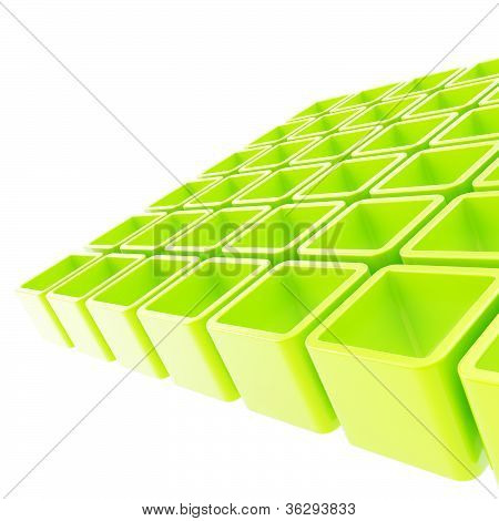 Colorful Cube Cell Composition As Abstract Background