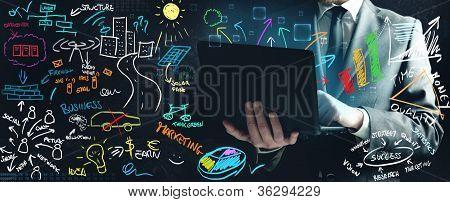 Businessman Working On New Ideas