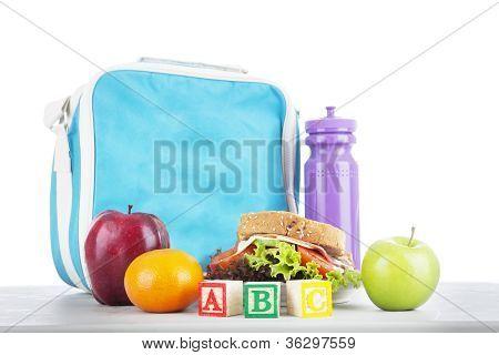 School Lunch With Alphabet Blocks