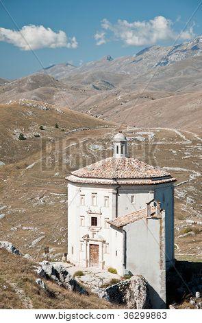 Church of Santa Maria della Piet� in Rocca Calascio - Italy