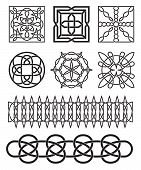 stock photo of triquetra  - Set of celtic knot design elements vector - JPG