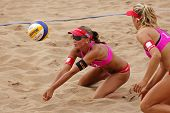 Beach Volleyball Woman Switzerland Ball