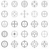 image of crosshair  - set of 25 different crosshairs for various uses - JPG